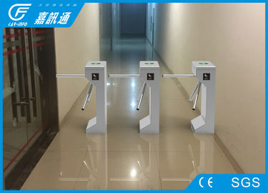 China Automatic 304 Stainless Steel Turnstiles Tripod Gates Coin Collector 560 * 280 * 980mm supplier