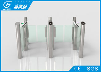 China Face Recoginition Swing Stainless Steel Turnstiles Smart Controlled For Gym Pub supplier