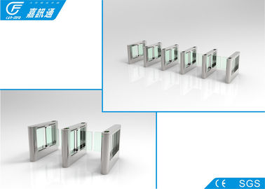 China Flap Barrier Gate Stainless Steel Turnstiles Anti Tail - Gating Alarm Detection Function supplier