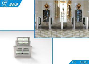 China Electric Magnetic Biometric Drop Arm Turnstile Gate One Direction 25 Persons / Min supplier