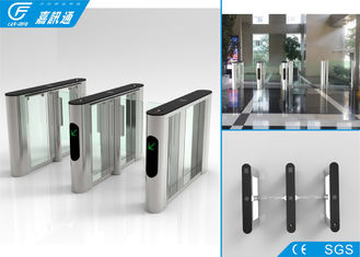 China Durable Stable Optical Flap Gate Barrier Turnstile Access Control System SUS 304 Housing supplier