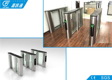 China RFID Card System Flap Gate Barrier 550mm Width SUS304 Housing For Metro Station supplier
