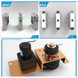 China 1.5mm Steel Waist High Turnstile Swing Barrier Gate For Biometric Access Control supplier