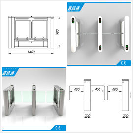China Airport / Metro / Swimming Hall Speed Gate Half Height Turnstile with Automatic Rfid Reader supplier