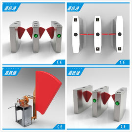 China Anti Collision Anti Rushing Half Height Turnstile Flap Barrier Gate Used In Subway Bus Stration supplier