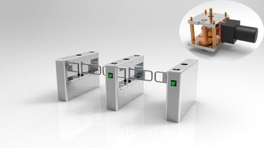 China Automatic Low Noise Stainless Steel Turnstiles 900mm Disabled Lane 24V DC Motor supplier