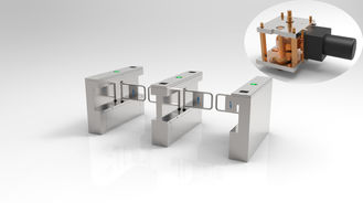 China Pedestrian Access Control Turnstile Gate , Turnstile Security Systems 4 Pairs IR Sensor supplier