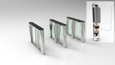 China Glass High Speed Gate Turnstile 4 Pairs IR Sensor 304SUS Housing For Airport supplier