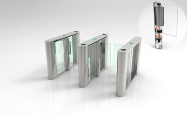 China Arcrylic Wings Tripod Turnstile Gate , 30W Entrance Barrier Systems For Gym supplier