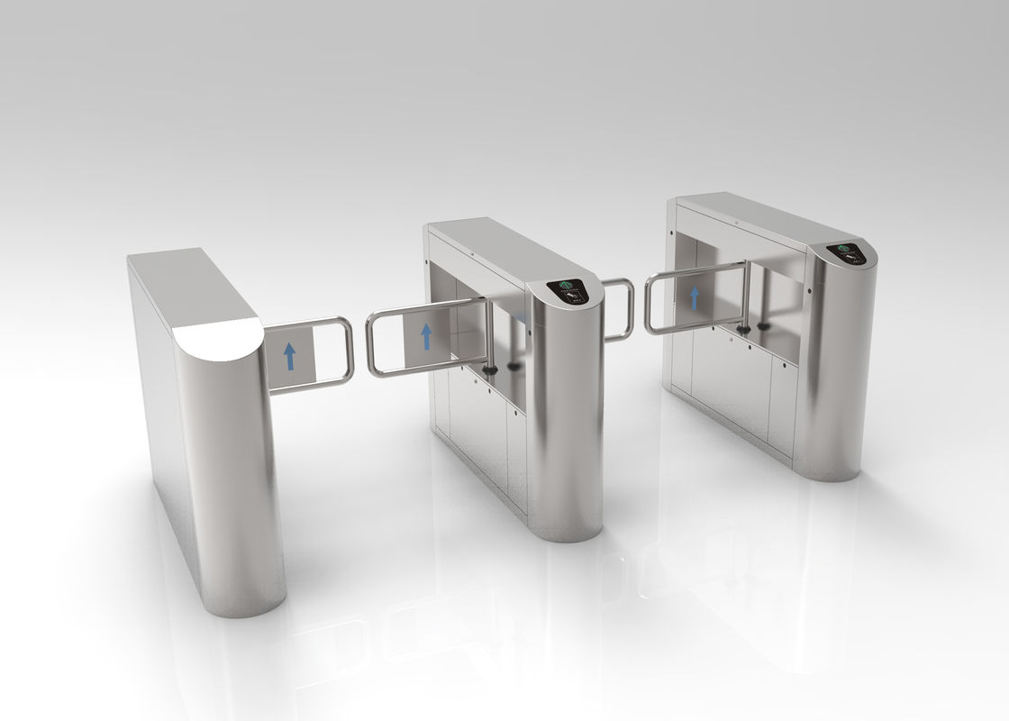 Super Market Electronic Turnstile Gates , Commerccial Mall Swing Gate Turnstile
