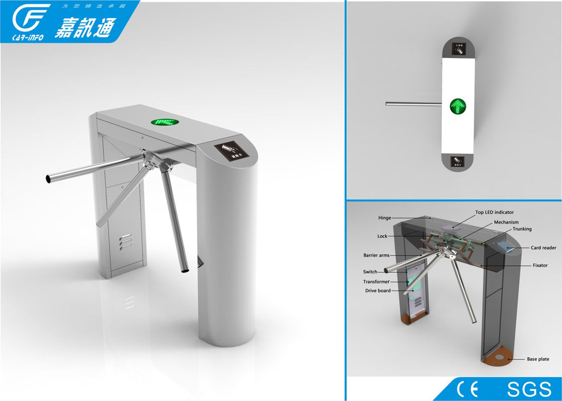 Full automatic turnstile gate with card reader durable