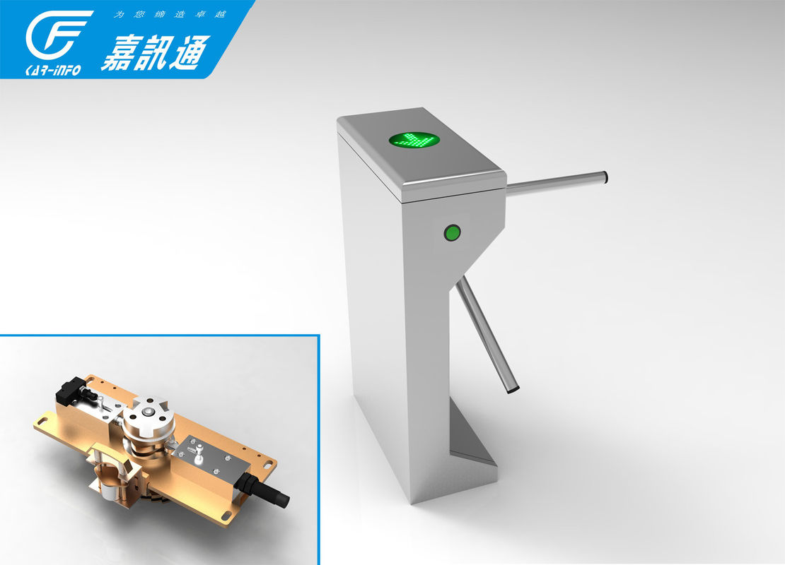 High Speed Vertical Tripod Turnstile React Quickly Stainless Steel For Bus Station