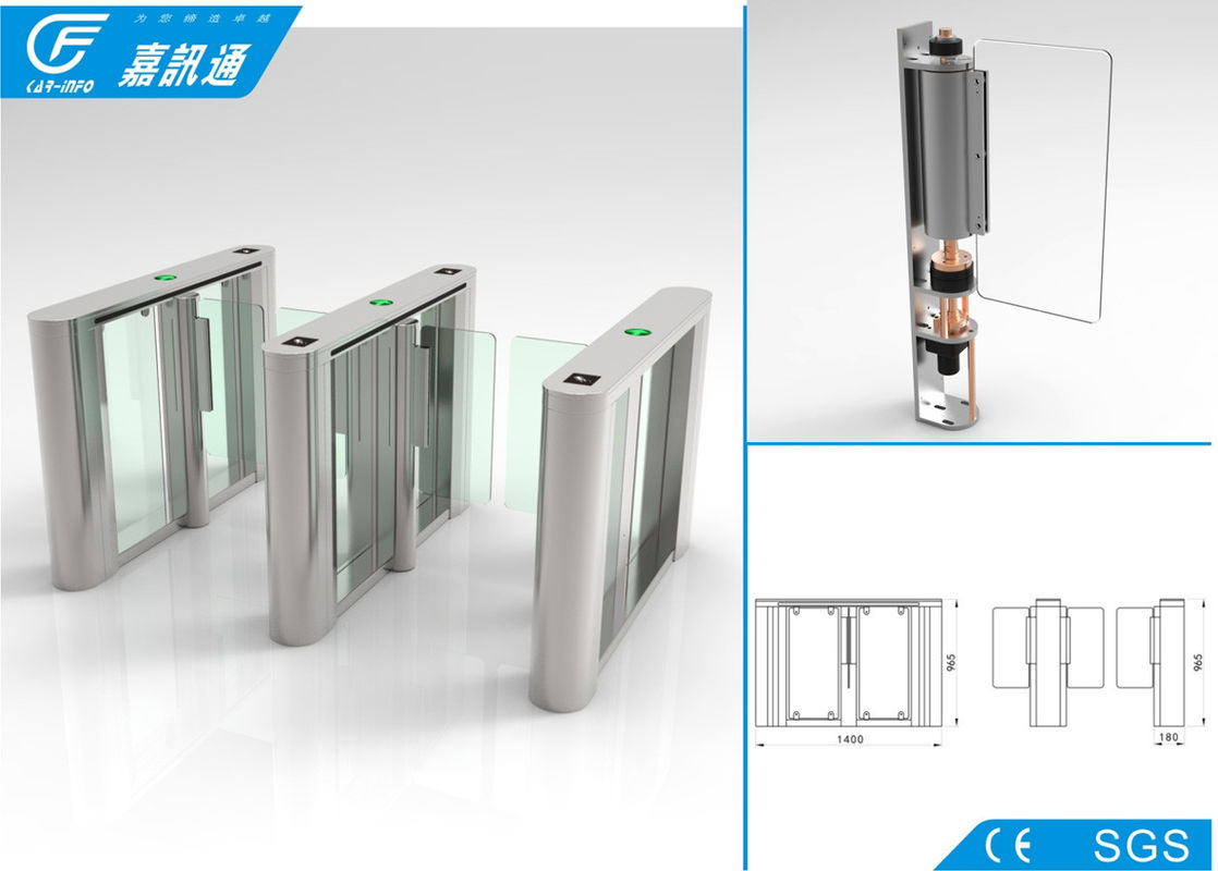 Automatic Swing Turnstile Gate , Commercial Building Turnstile 12V 120W