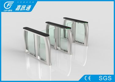 China Slim Flap Barrier Turnstile Anti - Pinch Function , Infrared Sensors Security Gate Card Reader factory