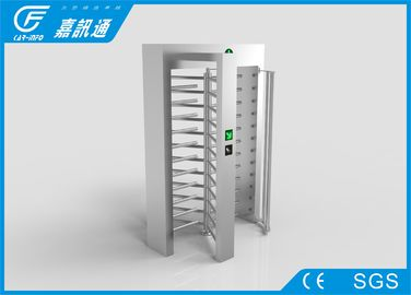 Stainless Steel Full Height Turnstile 30 Person / Min IC / ID Card Reader For Office Building