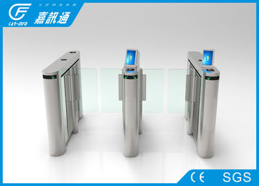 China Theater Entrance Pedestrian Barrier Gate , React Quickly Flap Barrier Turnstile factory