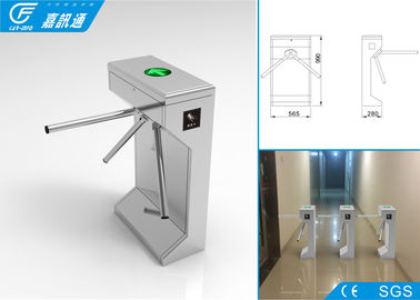 China Pedestrian Barrier Gate Malfunction Self - Inspection , Code Hinting Function Waist High Turnstile factory