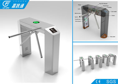 China Exit Waist Height Turnstile Lane Width 550 - 570mm , Turnstile Gate With Card Reader factory