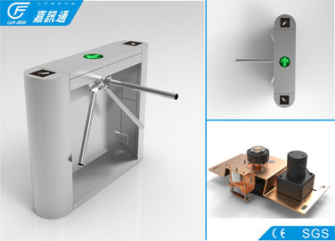 China Comercial Pedestrian Turnstile Gate , Tripod Access System 30 Persons Per Minute factory