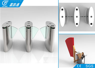 High Speed Security Flap Barrier Turnstile Railway Statiomn / Scenic Ticket System