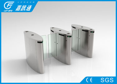 China Smart Speed Flap Barrier Gate Long Service Life , Automatic Optical Barrier Turnstiles factory