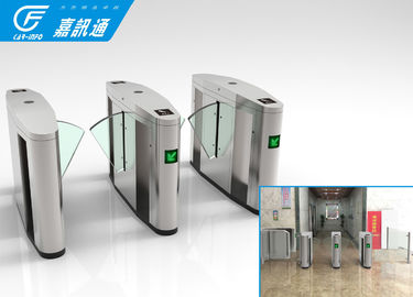 Intelligent Entrance flap Barrier Gate , Indoor Stainless Steel Half Height Turnstile