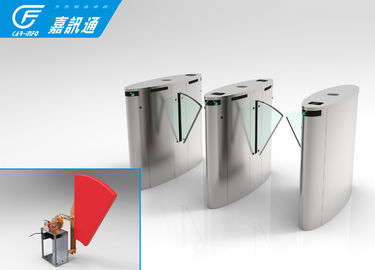 China Remote Control Flap Barrier System , Indoor Silding Turnstile Access Control factory