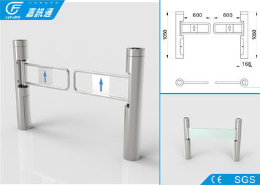 China Fast Speed Access Control Turnstile Gate , Full Automatic Swing Gate Turnstile factory