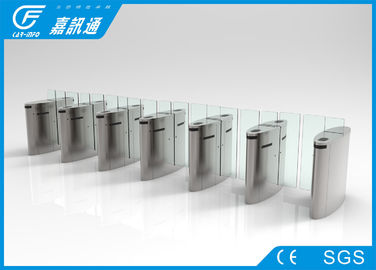 China Waist Height Retractable Flap Barrier , Public Security Flap Barrier System factory