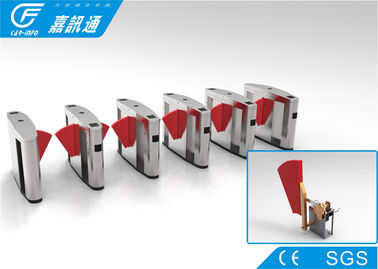 China Electronic Turnstile Gates Fingerprint Access Control , Scenic Areas Flap Barrier System factory