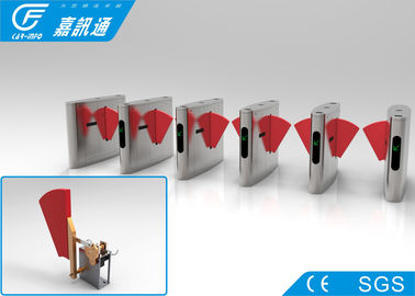 China Subway Passage Security Gates , React Quickly Card Reader Pedestrian Access Gate factory