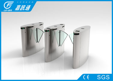 Face recognition Stainless Steel Turnstiles gate , High speed flap gates acccess control system