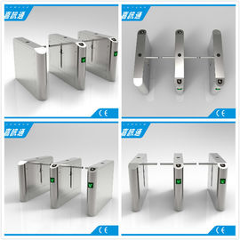 Office Entrance Stainless Steel Drop Arm Turnstile With 560mm Passage Width