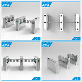 Automatic Swing Barrier Gate With 24V Direct Current Brush Motor Used In Bus Station