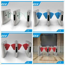 Half Height Flap Gate Barrier Safety Access Control Turnstile Gate CF238FLG-YJ