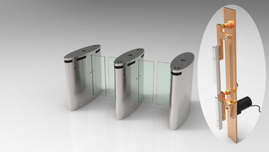 Waist Height Sliding Electronic Turnstile Gates IP54 30 Person / Min Speed
