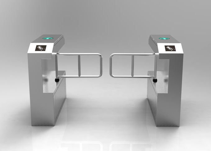 304 stainless steel swing barrier gate with top led light for access control system