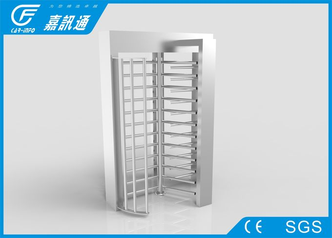 Rotating Entrance Gate TCP / IP Communication , Military Area Turnstile Security Doors