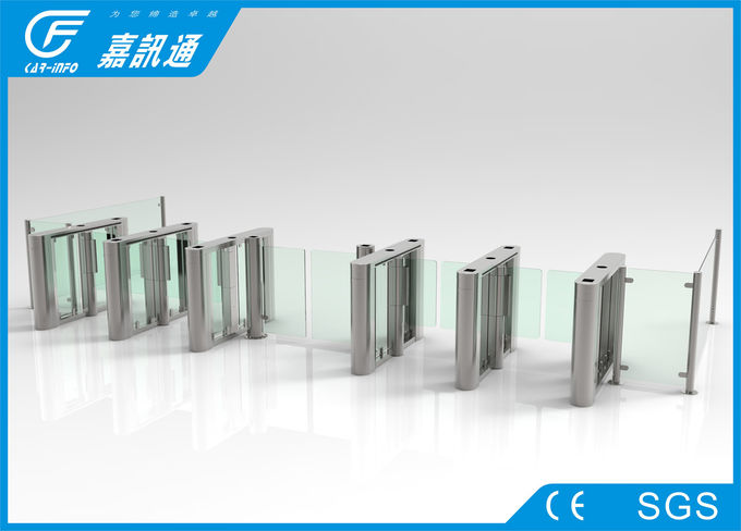Pedestrian Access Gate Rfid Access Control System  , Waist High Turnstile For Meeting Center