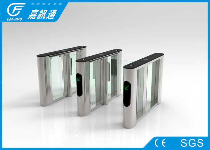 Acrylic Speed Gate Turnstile Opener Angle Encoder For Office Building Entrance