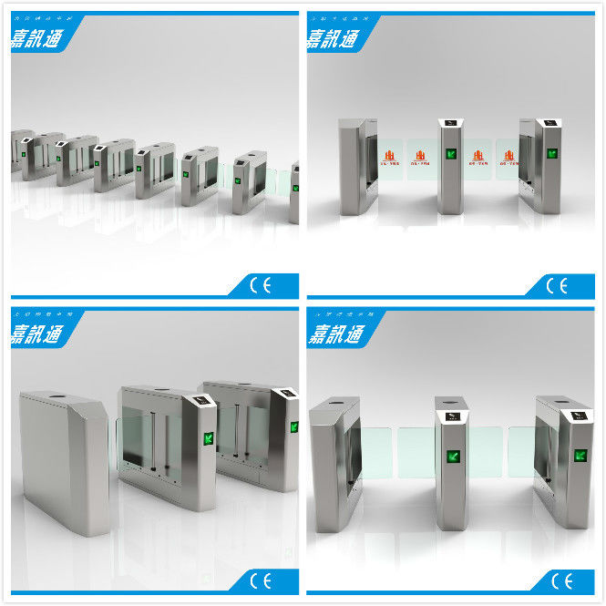 1.5mm Steel Waist High Turnstile Swing Barrier Gate For Biometric Access Control