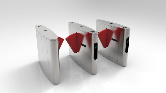 Metro Anti - Pinch Flap Barrier Gate Matching Of Various Identification Systems