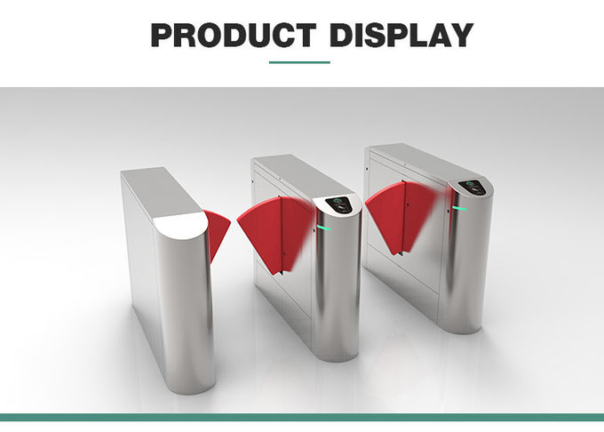 High security Access control flap barrier with visitor system